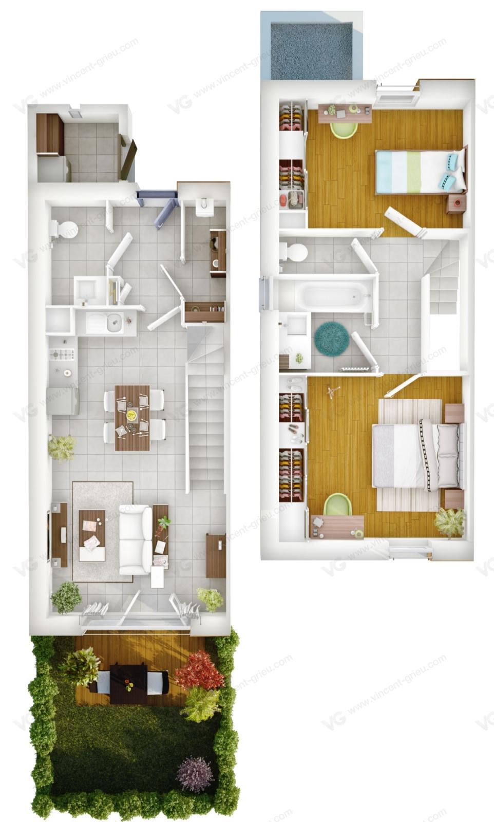 Maisons de retraite en infographie 3d vincent grieu for Appartement maison de retraite