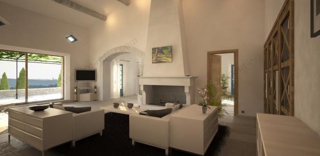 infographie 3d d 39 un mas proven al de prestige vincent grieu infographiste 3d. Black Bedroom Furniture Sets. Home Design Ideas