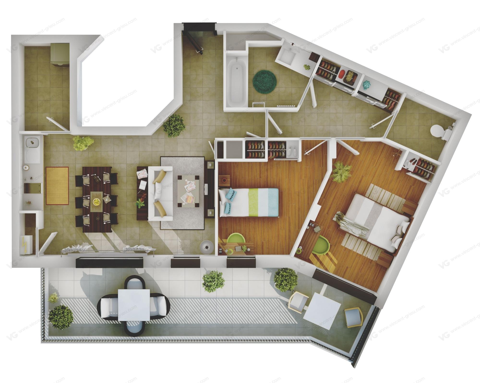 Perspectives 3d immobili re de promotion en r gion for Programme architecture 3d gratuit