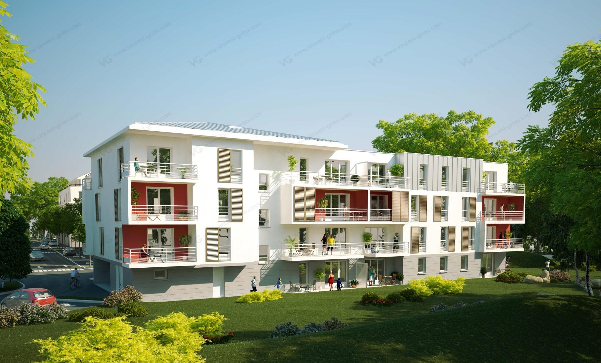Infographie 3d immobili re pour une construction for Immobilier e